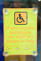 Disability access sign,