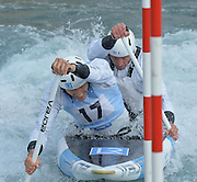 London  ENGLAND. C2M, David FLORENCE and Richard HOUNSLOW, competing at the  British Canoeing, Canoe Slalom, 2015 Senior and U23 UK Championships and Senior Team Selection Trials, Lee valley Whitewater Centre. <br /> <br /> Sunday  05/04/2015<br /> <br /> [Mandatory Credit; Peter Spurrier/Intersport-images]