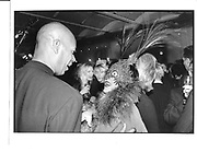 Isabella Blow and Micheal Roberts at the Vanity Fair Swinging London dinner River Cafe, London 20 Nov 96 © Copyright Photograph by Dafydd Jones 66 Stockwell Park Rd. London SW9 0DA Tel 020 7733 0108 www.dafjones.com