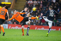 Dundee United's Billy McKay and Dundee's Kevin Thomson. <br /> Dundee 2 v 1  Dundee United, SPFL Ladbrokes Premiership game played 2/1/2016 at Dens Park.