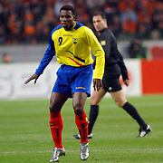 NLD/Amsterdam/20060301 - Voetbal, oefenwedstrijd Nederland - Ecuador, Carlos Tenorio