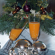 Glazen met drank voor de kerst