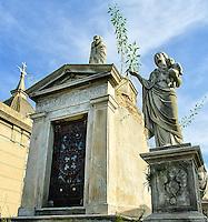 Mausoleum of Jose Ant-Castano Y su familia build in 1866, Recoleta Cemetery, Buenos Aires, Argentina