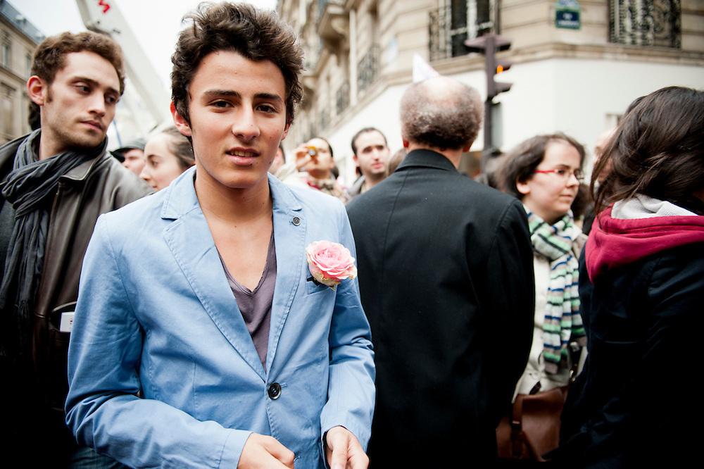 Rue Solferino, 6 mai 2012, on fête la victoire de F Hollande