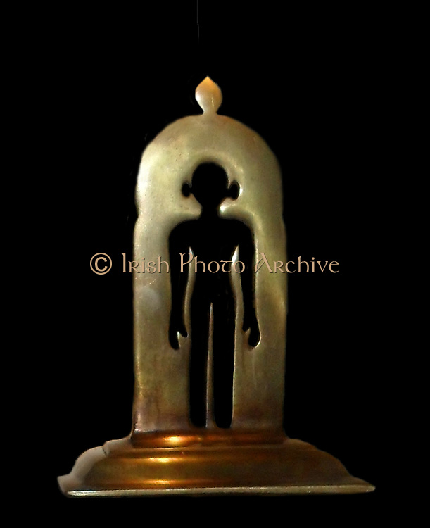 A Sidda (brass 20th Century). A Sidda is a Jain who achieves salvation and no longer has a human physical body. India