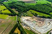 Nederland, Gelderland, Achterhoek, 29-05-2019; Winterswijk, steengroeve wordt geëxploiteerd door SIBELCO B.V. Winterswijkse Steen- en Kalkgroeve. Dagbouwmijn voor het delven van voornamelijk kalksteen. Linksboven oude groeve.<br /> Winterswijk Quarry and Limestone Quarry.<br /> luchtfoto (toeslag op standard tarieven);<br /> aerial photo (additional fee required);<br /> copyright foto/photo Siebe Swart