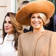 NLD/Den Haag/20180320 - Officieel bezoek Jordanie aan Nederland, Koningin Maxima en Koningin Rania