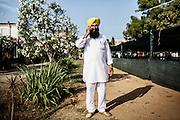 Indiano sikh nel tempio Gurudwara di Sabaudia (Latina), Giugno 2014. Christian Mantuano / OneShot