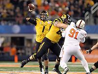 Oklahoma State University vs. Missouri - Cotton Bowl NCAA college football game, Friday, Jan. 3, 2014, in Arlington, Texas.