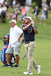May 30, 2019 - Dublin, OH, U.S. - DUBLIN, OH - MAY 30: Bryson DeChambeau watches an approach shot during the first round of The Memorial Tournament on May 30th 2019  at Muirfield Village Golf Club in Dublin, OH. (Photo by Ian Johnson/Icon Sportswire) (Credit Image: © Ian Johnson/Icon SMI via ZUMA Press)