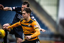 Falkirk's Paul Paton and Alloa Athletic's Dario Zanatta. Falkirk 1 v 2 Alloa Athletic, Scottish Championship game played 6/4/2019 at The Falkirk Stadium.