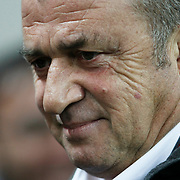 Galatasaray's coach Fatih Terim during their Turkish Super League soccer match Galatasaray between Manisaspor at the TT Arena at Seyrantepe in Istanbul Turkey on Wednesday, 21 December 2011. Photo by TURKPIX