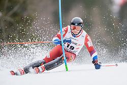 01.03.2020, Hannes Trinkl Weltcupstrecke, Hinterstoder, AUT, FIS Weltcup Ski Alpin, Alpine Kombination, Herren, Slalom, im Bild Pavel Trikhichev (RUS) // Pavel Trikhichev of Russian Federation in action during his Slalom run of men's Alpine combined of FIS ski alpine world cup at the Hannes Trinkl Weltcupstrecke in Hinterstoder, Austria on 2020/03/01. EXPA Pictures © 2020, PhotoCredit: EXPA/ Johann Groder