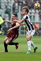 Andrea Belotti  Torino, Daniele Rugani Juventus<br /> Torino 11-12-2016 Stadio Olimpico Grande Torino <br /> Fotball Calcio Serie A 2016/2017 Torino - Juventus  <br /> Foto Massimo Pinca Insidefoto