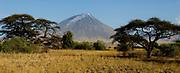 "The holy mountain - ""Mountain of God"" - Ol Doinyo Lengai at Lake Natron, northern Tanzania."