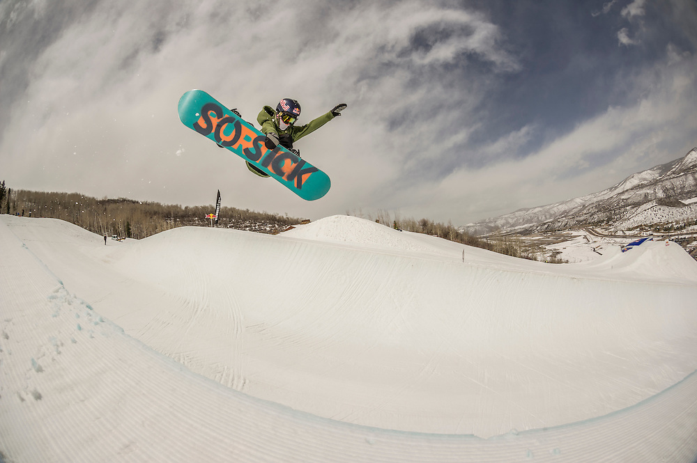 Brock Crouch performs at the RedBull Performance Camp in Aspen Colorado, United States on April 14th, 2013