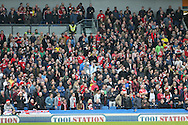 Middlesbrough fans during the Sky Bet Championship match between Brighton and Hove Albion and Middlesbrough at the American Express Community Stadium, Brighton and Hove, England on 19 December 2015.