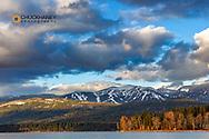 Late day light on Big Mountain and Whitefish Lake in Whitefish, Montana, USA