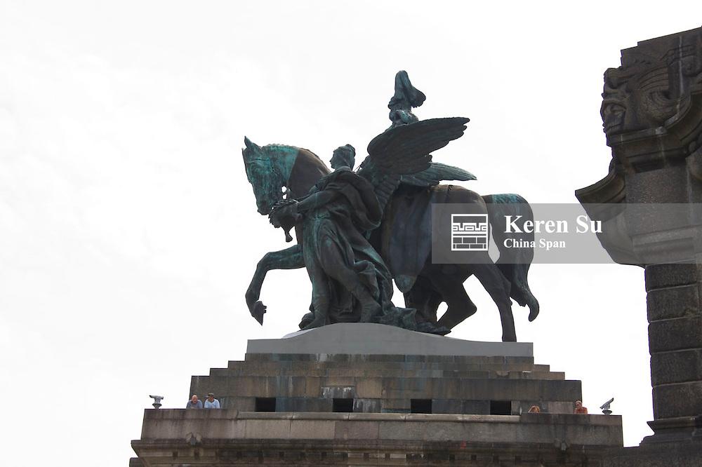 Monument of Emperor Wilhelm I at Deutsches Eck, Koblenz, Germany