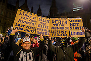 """The Million Mask March - anti-establishment protesters in V for Vendetta-inspiredGuy Fawkes masks march from Trafalgar Square to Parliament Square. It was organised by Anonymous, the anarchic 'hacktivist' network. The movement is also closely identified with the Occupy protests, Wikileaks, and the Arab Spring. The UK Anonymouswebsitedescribes the march on Parliament as a """"protest against austerity … the infringement of our rights … mass surveillance … war crimes … corrupt politicians."""" 05 Nov 2016"""