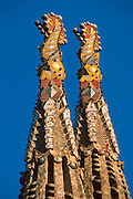SPAIN, BARCELONA, GAUDI Sagrada Familia; eastern towers
