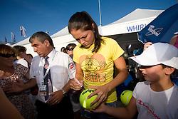 Dinara Safina of Russia had time for fans at 2nd day of Banka Koper Slovenia Open WTA Tour tennis tournament, on July 21 2009, in Portoroz / Portorose, Slovenia. (Photo by Vid Ponikvar / Sportida)