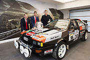 Connolly Motor Group has opened its new state-of-the-art Audi Terminal Showrooms in Ballybrit, Galway. <br /> The finishing touches have been put to the ultra-modern dealership, increasing to 35 full-time jobs, bringing the number of full-time employees at the Connolly Motor Group to over  200 with 35 of those located in Galway.<br /> Work on the new €5 million state-of-the-art dealership began just before Christmas last year and opened on Tuesday October 31st.<br /> The new 'Audi Terminal' is just a stone's throw from Connollys' former Audi Galway dealership at the Briarhill Business Park, close to the Galway Racecourse in Ballybrit. <br /> Finished to the highest spec with the most up-to-date technology, the 23,000 sq. ft. car retail facility is based around Audi's newest design concept. <br /> It is one of the most modern facilities in the country and includes the most up-to-date technology for electric vehicles with multiple power points.<br /> At the Weekend launch was Galway Hurlers and Staff members Kevin Broderick, (former) , Greg Lally, with Audi Ambassador Joe Canning.<br />  Photo:Andrew Downes