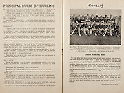 All Ireland Senior Hurling Championship Final,.Programme,.07.09.1952, 09.07.1952, 7th September 1952, .Cork 2-14, Dublin 0-7,.Minor Dublin v Tipperary,.Senior Cork v Dublin, .Croke Park, ..Articles, Principal Rules of Hurling, Cork's Hurling Men,