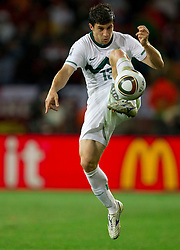 Bojan Jokic of Slovenia during the 2010 FIFA World Cup South Africa Group C Third Round match between Slovenia and England on June 23, 2010 at Nelson Mandela Bay Stadium, Port Elizabeth, South Africa.  (Photo by Vid Ponikvar / Sportida)