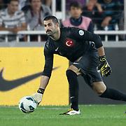 Turkey's goalkeeper Volkan Demirel during their FIFA World Cup 2014 qualifying soccer match Turkey betwen Romania at Sukru Saracoglu stadium in Istanbul october 12, 2012. Photo by TURKPIX