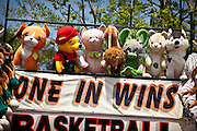 Carnival game to win stuffed animals during a country fair in St. George, SC