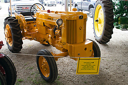 01 August 2014:   McLean County Fair. 1956 John Deere tractor at the antique tractor display.