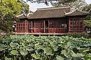 Mandarin Duck Hall in the Humble Administrator's garden in Suzhou, China.