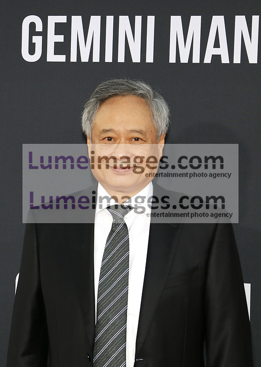 Ang Lee at the Los Angeles premiere of 'Gemini Man' held at the TCL Chinese Theatre in Hollywood, USA on October 6, 2019.