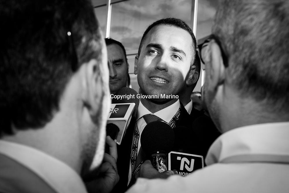 Atella (PZ) 07.10.2018 - Il Vice Premier e Ministro del lavoro Luigi Di Maio in Basilicata. Il ministro in visita presso l'azienda CMD specializzata in produzione di motori