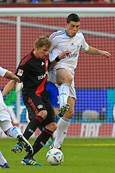 23.10.2011,  BayArena, Leverkusen, GER, 1.FBL, Bayer 04 Leverkusen vs Schalke 04, im Bild.Stefan Kiessling (Leverkusen #11) gegen Kyriakos Papadopoulos (Schalke #14)..// during the 1.FBL, Bayer Leverkusen vs Schalke 04 on 2011/10/23, BayArena, Leverkusen, Germany. EXPA Pictures © 2011, PhotoCredit: EXPA/ nph/  Mueller       ****** out of GER / CRO  / BEL ******