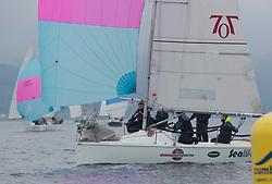 Pelle P Kip Regatta 2017 run by Royal Western Yacht Club at Kip Marina on the Clyde. <br /> <br /> 7060N, Seaword, Dara O'Malley, PEYC<br /> <br /> Image Credit Marc Turner