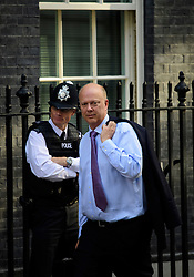© Licensed to London News Pictures. 13/09/2016. London, UK.  Secretary of State for Transport CHRIS GRAYLING arrives at 10 Downing Street in London for cabinet meeting on September 13, 2016. Photo credit: Ben Cawthra/LNP