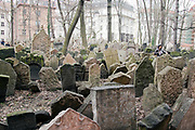 Headstones at the Jewish historical Cemetry, Prague, Czech Republic