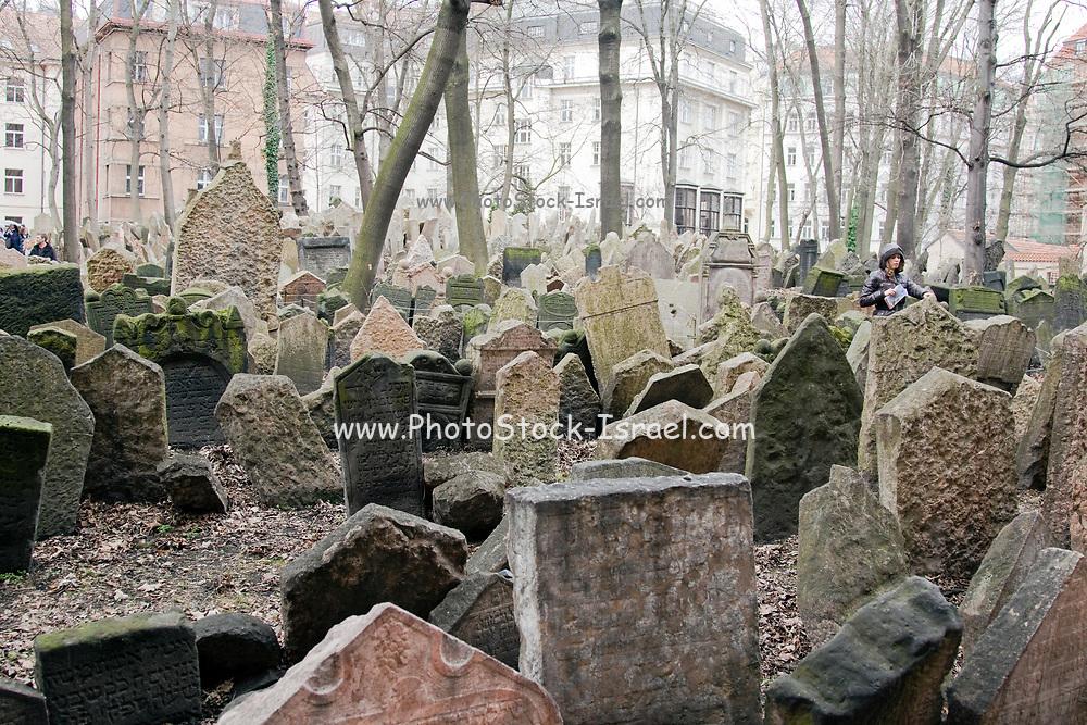 Headstones at the Jewish historical Cemetry, Prague, Czech Republic