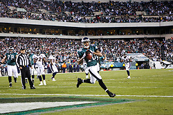 Philadelphia Eagles wide receiver DeSean Jackson #10 scores a touchdown during the NFL game between the Denver Broncos and the Philadelphia Eagles on December 27th 2009. The Eagles won 30-27 at Lincoln Financial Field in Philadelphia, Pennsylvania. (Photo By Brian Garfinkel)