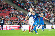Slovakia (4) Lukas STETINA during the FIFA World Cup Qualifier match between England and Slovakia at Wembley Stadium, London, England on 4 September 2017. Photo by Sebastian Frej.