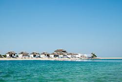 Vew of The Island Lebanon beach resort on a man made island, part of The World off Dubai coast in  United Arab Emirates