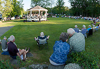 The 2nd Baptist Church in Sanbornton hosted a spaghetti dinner followed by a concert with the Lakes Region Big Band raising over $2300.00 that will go towards the rebuilding of a new bandstand on their front lawn.  (Karen Bobotas/for the Laconia Daily Sun)
