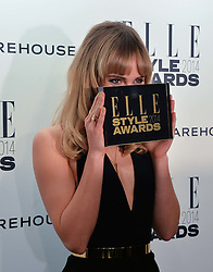 SUKI WATERHOUSE winner of the Elle Model of The Year Award at the 17th Elle Style Awards 2014 in association with Warehouse held at One Embankment, 8 Victoria Embankment, London on 18th February 2014.