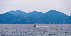 Stock pictures of Cannes in the south of France, September 2017<br /> <br /> A speedboat in the bay<br /> <br /> Alex Todd | EEm 24th September 2017