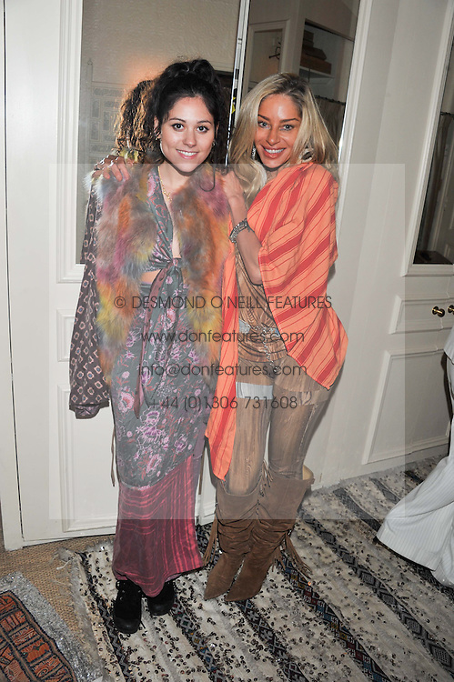 Left to right, ELIZA DOOLITTLE and SARA HERSHAM LOFTUS at a party to celebrate the publication of Seductive Interiors by Sara Hersham Loftus at Julie's, 135 Portland Road, London W11 on 15th November 2012.