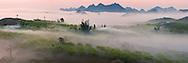 Vietnam Images-Panoramic landscape-Moc Chau plateau-
