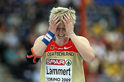 European Championships winner Petra Lammert of Germany at the 1st day of  European Athletics Indoor Championships Torino 2009 (6th - 8th March), at Oval Lingotto Stadium,  Torino, Italy, on March 6, 2009. (Photo by Vid Ponikvar / Sportida)
