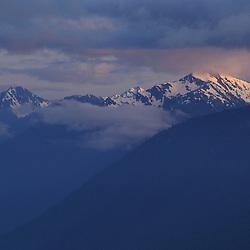 Hurricane Ridge, WA.Last light finds the Olympic Range in Olympic N.P.